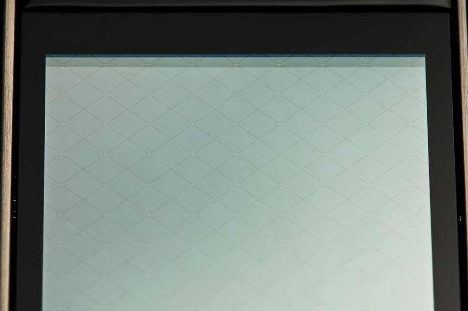 Inside a touchscreen.