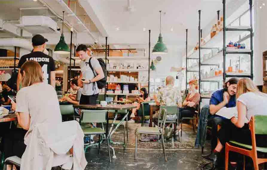 A bustling Cafe