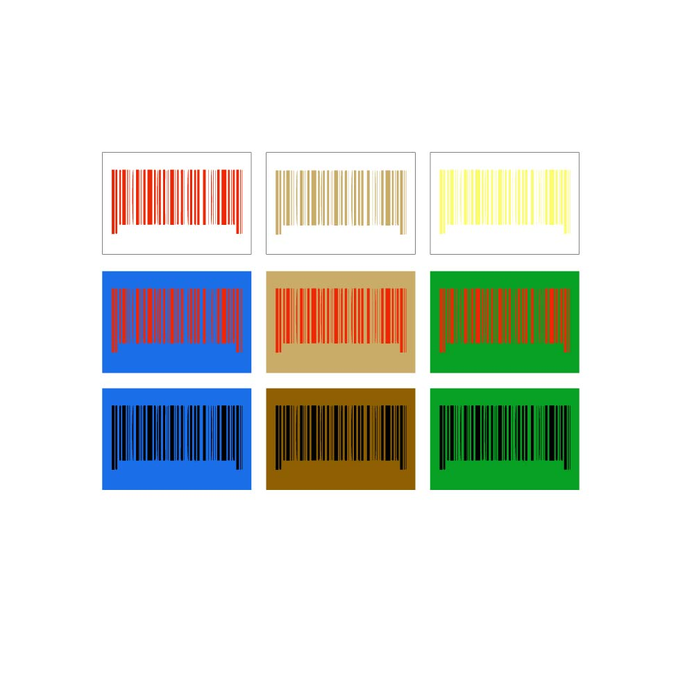 barcodes that don't have right colors