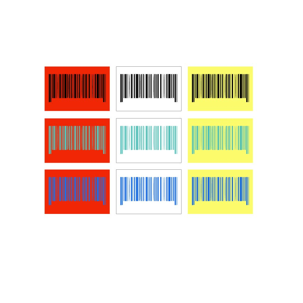 barcodes that have right colors