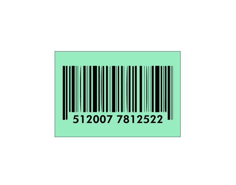 can a barcode be white illustration