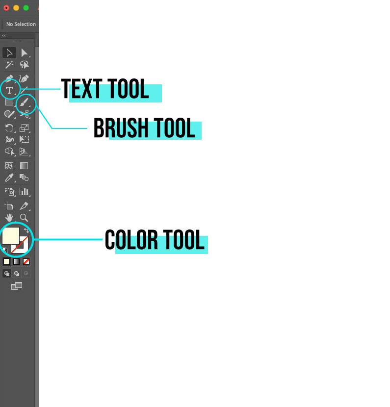 Text tool in illustrator