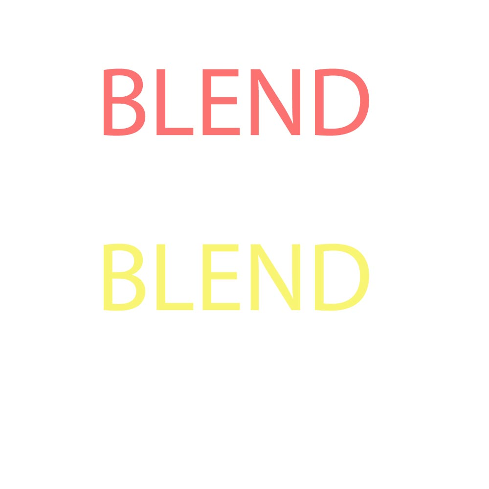 Two texts saying blend