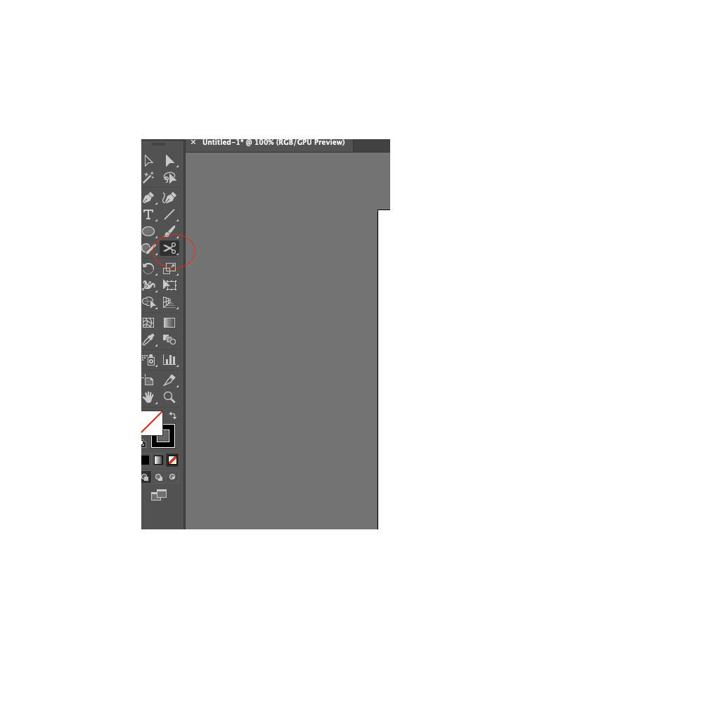 Scissor tool in Illustrator