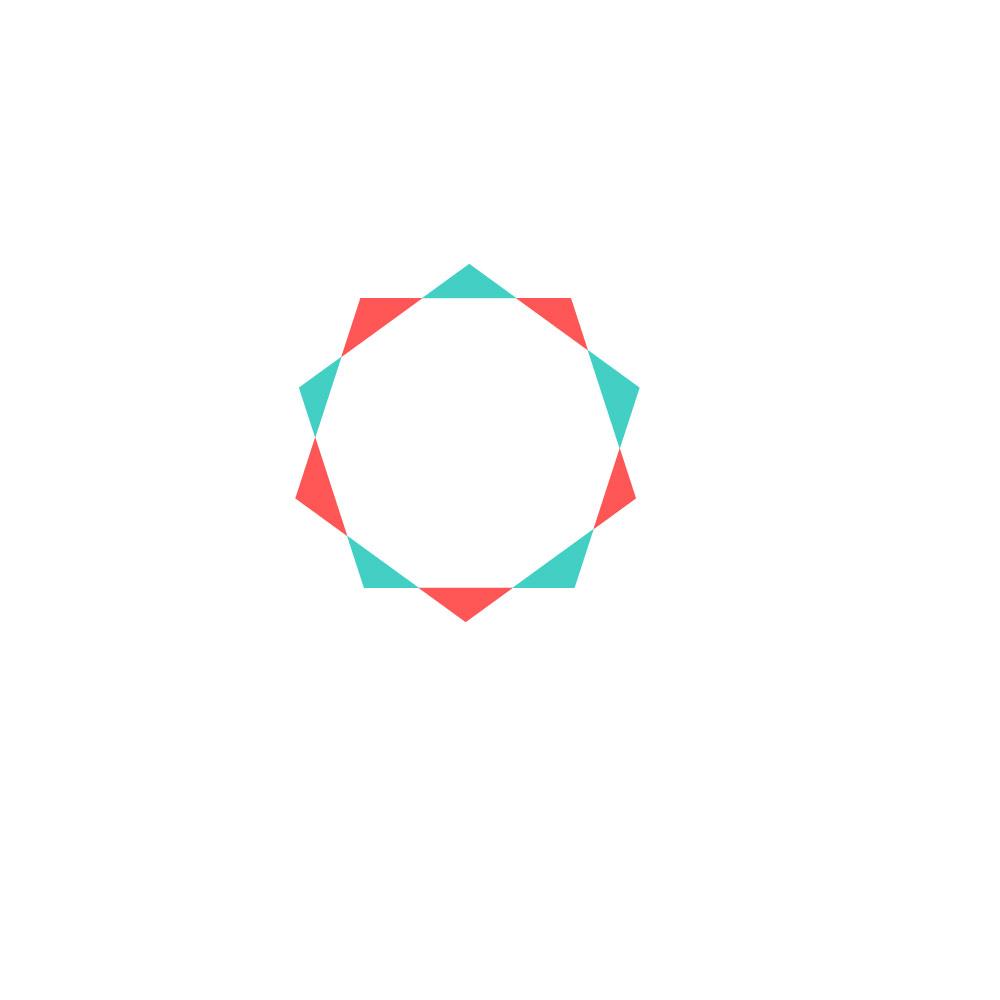 A complex shape made using shape builder tool