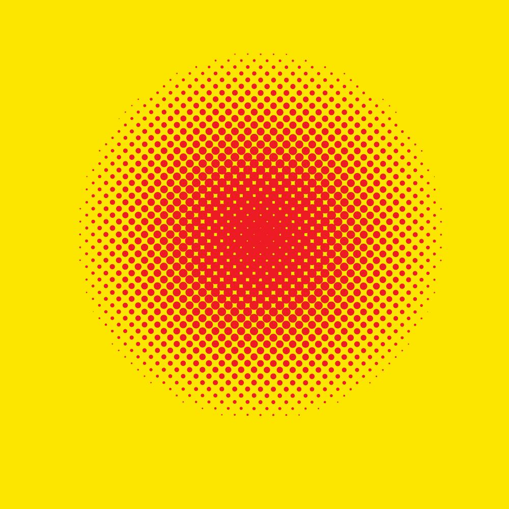 Pop art halftone pattern
