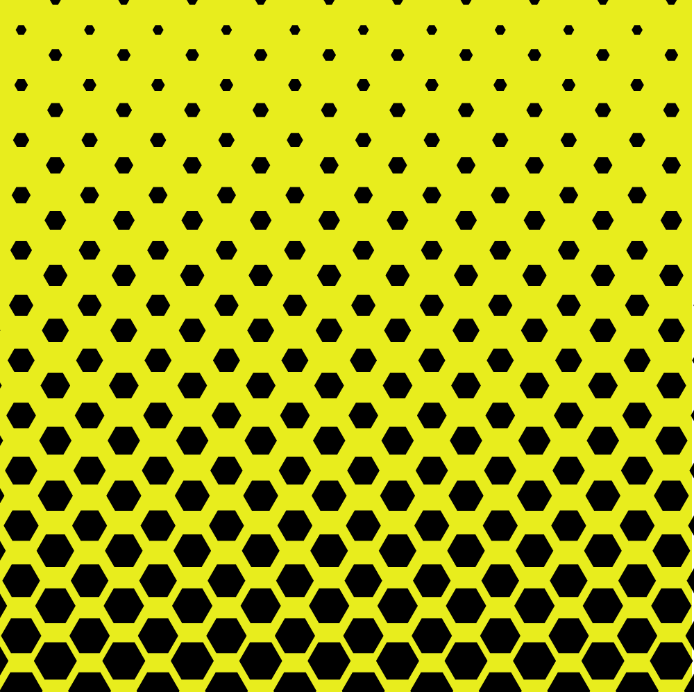 halftone with yellow background for halftone illustrator tutorial
