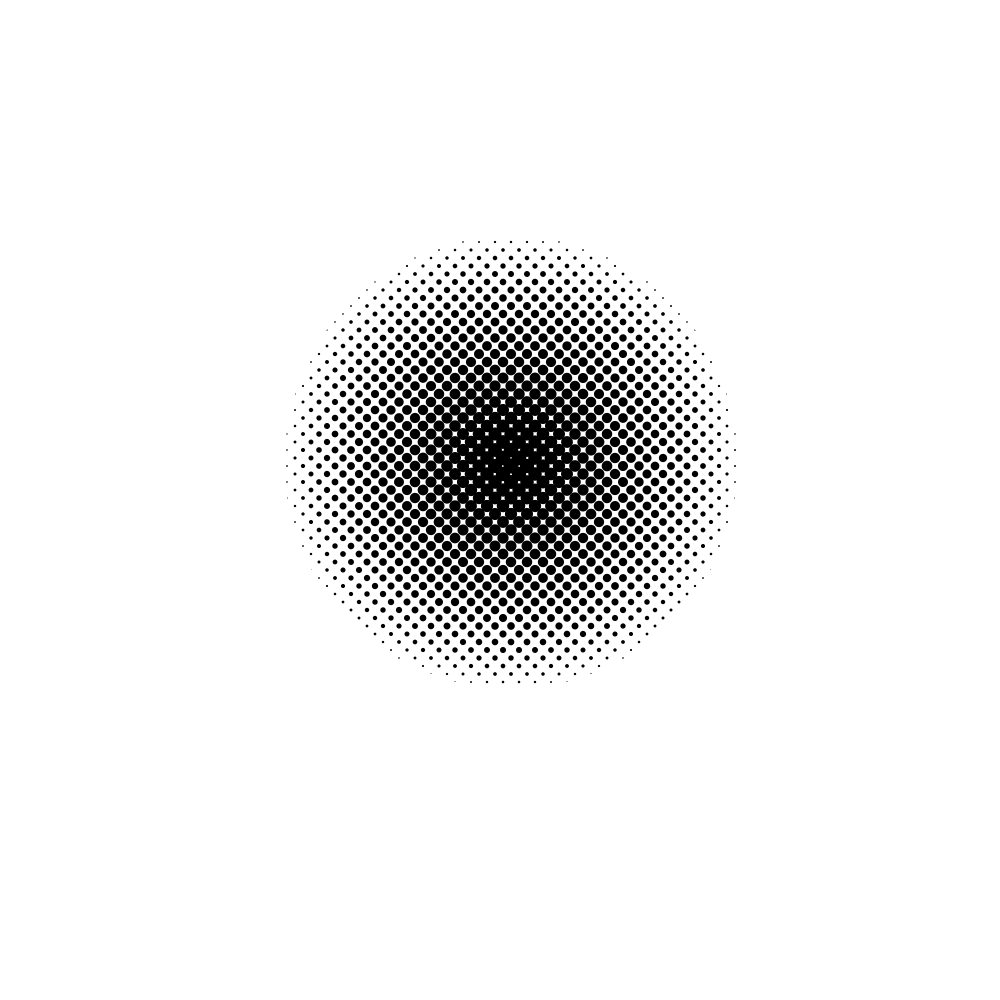 Halftone with jagged edges