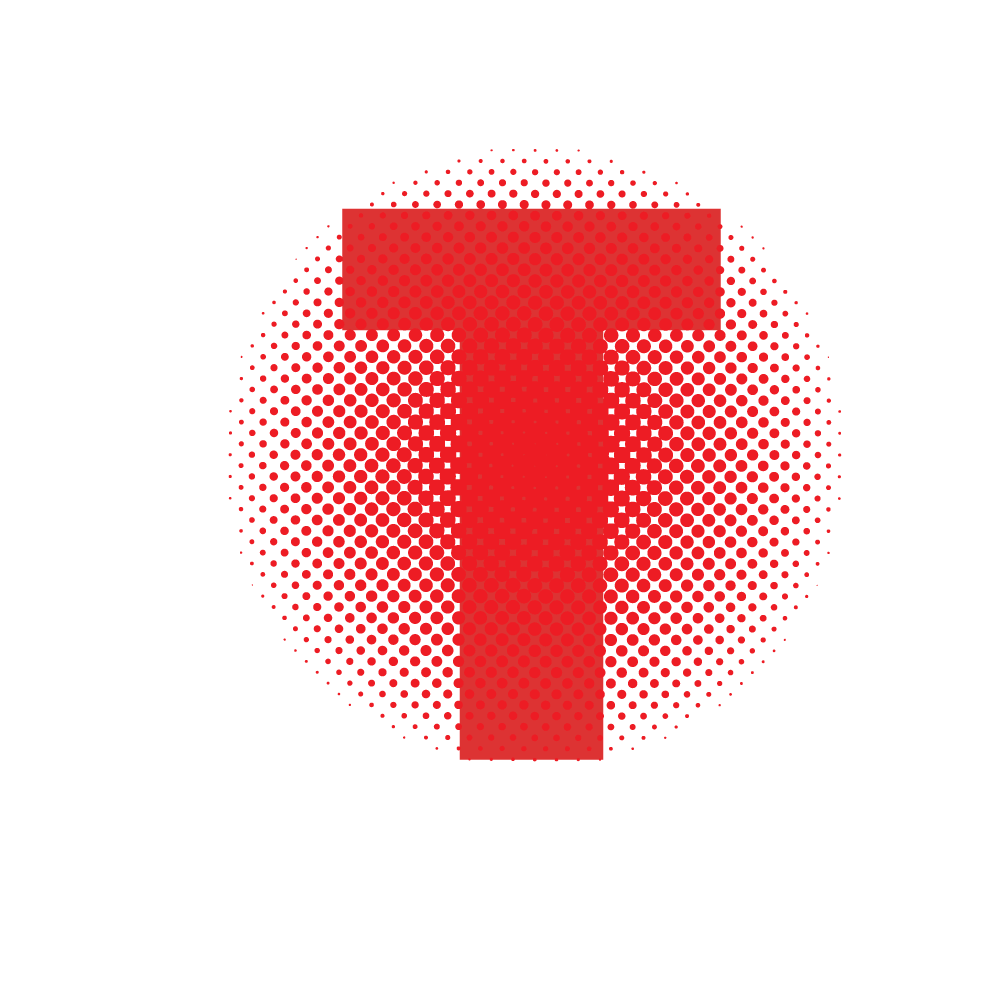 Applying halftone pattern on text