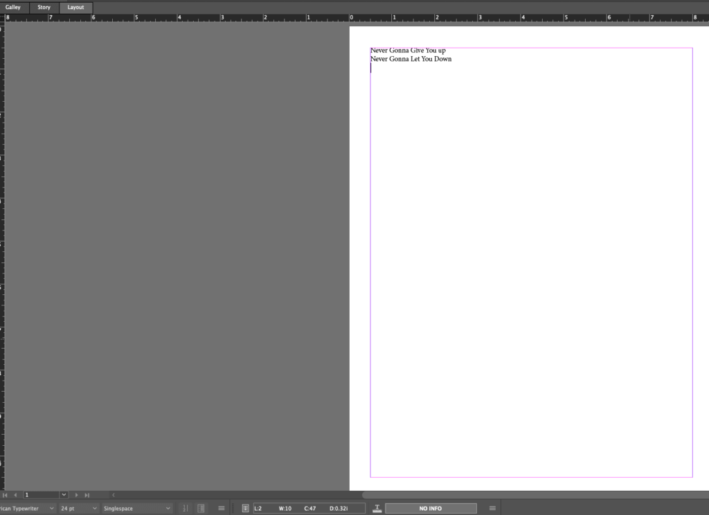Layout view mode