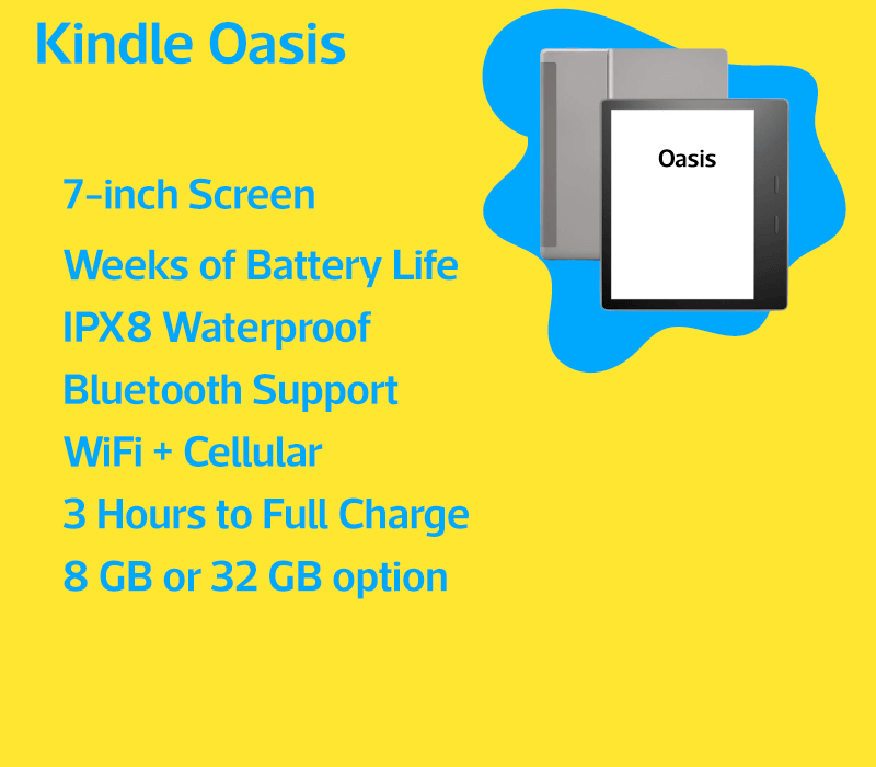 Kindle Oasis features